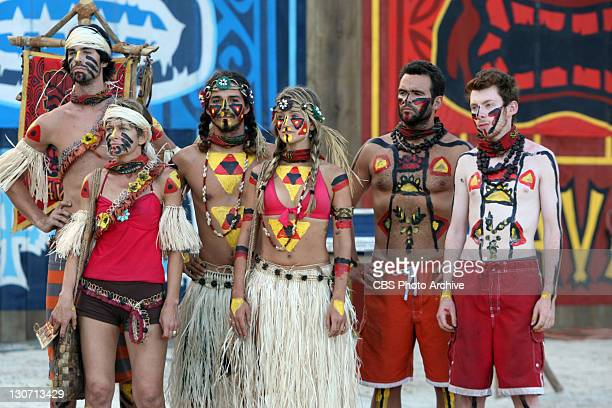 'Trojan Horse' – Keith Tollefson Dawn Meehan Ozzy Lusth Whitney Duncan Jim Rice and John Cochran of the Savaii Tribe during the immunity and reward...