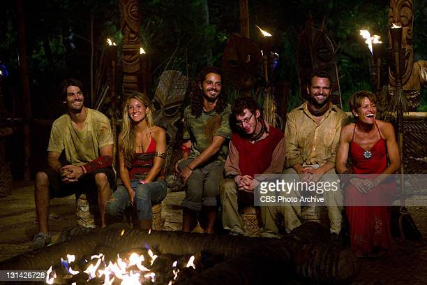'Trojan Horse' – Keith Tollefson Whitney Duncan Ozzy Lusth John Cochran Jim Rice and Dawn Meehan of the Savaii Tribe during tribal council during the...