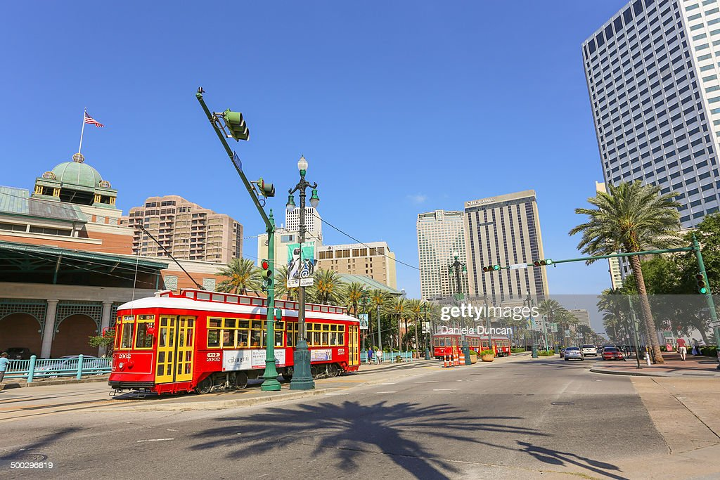 CONTENT] Trolleys at Canal Street New Orleans