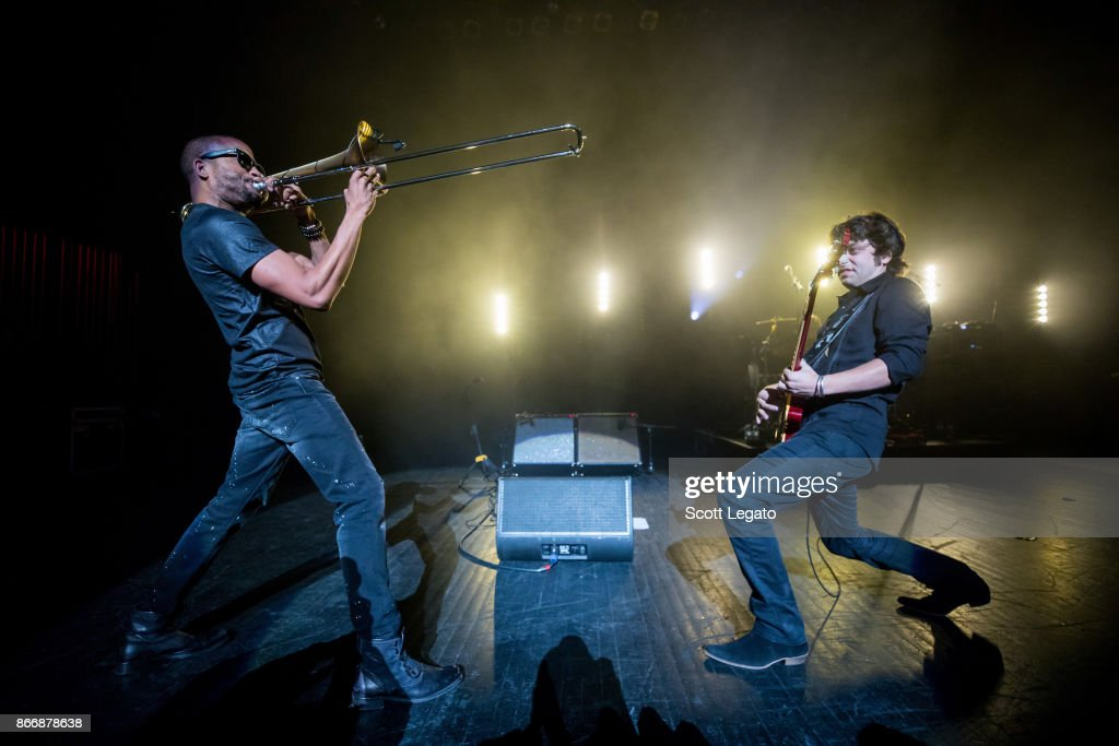 Trombone Shorty performs at The Fillmore on October 26, 2017 in Detroit, Michigan.