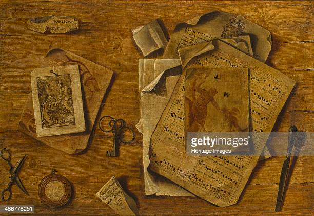 Trompelil with musical score drawings and keys c 1800 Artist Anonymous