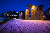 Traditional Norwegian fishing village Scandinavia