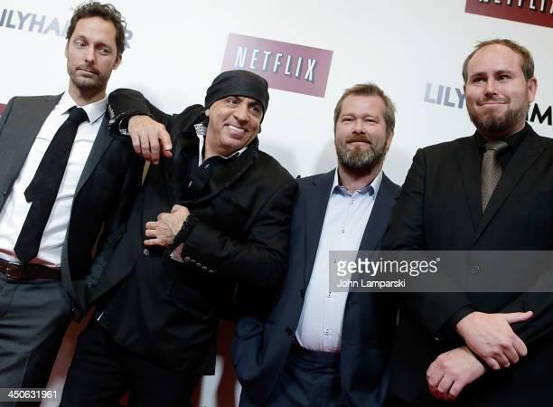 Trond Fausa Steven Van Zandt Fridtjov Sanheim and Tommy Karlsen attends the 'Lilyhammer' season 2 premiere at NYIT Auditorium on November 19 2013 in...