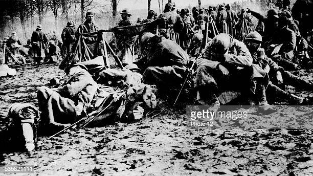 Troops after an attack February 26 France World War I