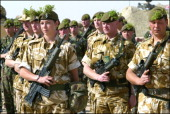 Troops From The Irish Guards Part Of 7Th Armoured Brigade Will Attend A St Patricks Day Parade And Be Presented With The Shamrock On March 17Th Kuwait
