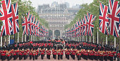 Troops march along The Mall after the Colonel's Review in London on June 4 2016 / AFP / JUSTIN TALLIS