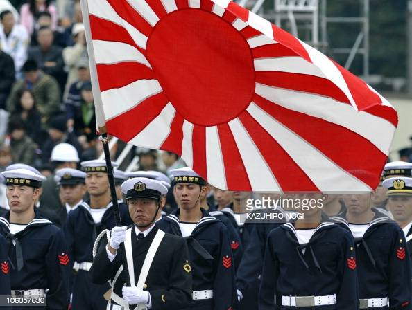Troops of the Maritime SelfDefense Force attend an inspection parade at the Asaka base in suburban Tokyo on October 24 2010 Around 3800 personnel 240...
