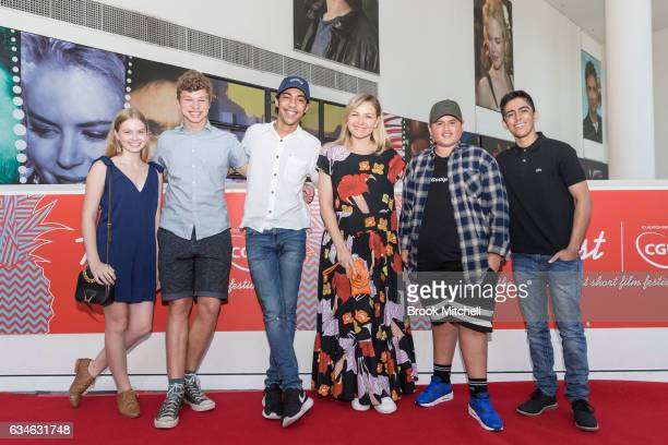 Trop Jr Judges Angourie Rice Yianni Rowlands Hunter PageLochard Justine Clarke Jullian Dennison and Karan Brar arrive at Trop Jr on February 11 2017...