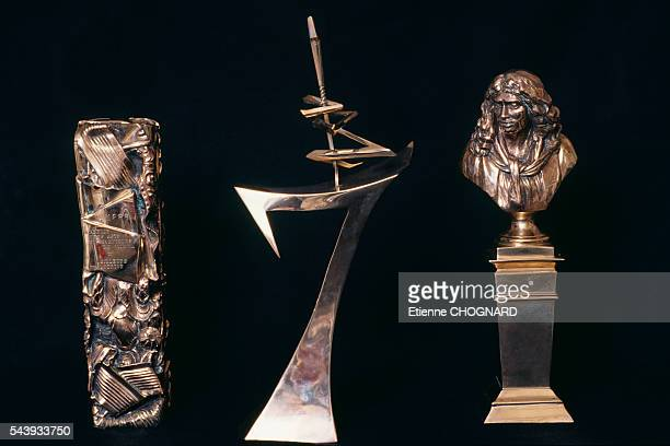 Trophies the Cesar the Sept D'Or and the Moliere