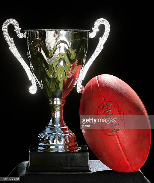Trophy and an AFL Ball