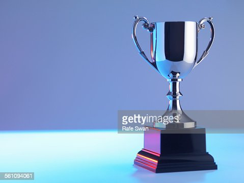 Trophy at award ceremony
