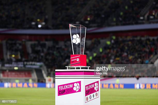 Trophy is seen prior the Telekom Cup 2017 match between Fortuna Duesseldorf and Bayern Muenchen at EspritArena on January 14 2017 in Duesseldorf...