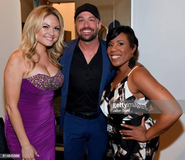Trophy Presenter Felice Garcia CMT Host Cody Alan and American Idol's Melinda Doolittle arrive at Top 100 Dealer Awards during Summer NAMM at Music...