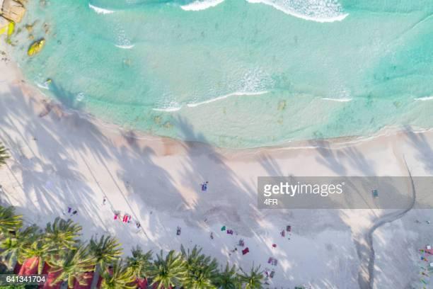Tropical Beach Haad Rin, Thailand - Bird's-Eye View