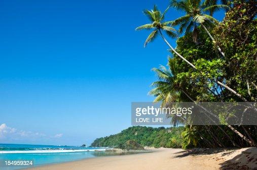 A tropical beach in Costa Rica