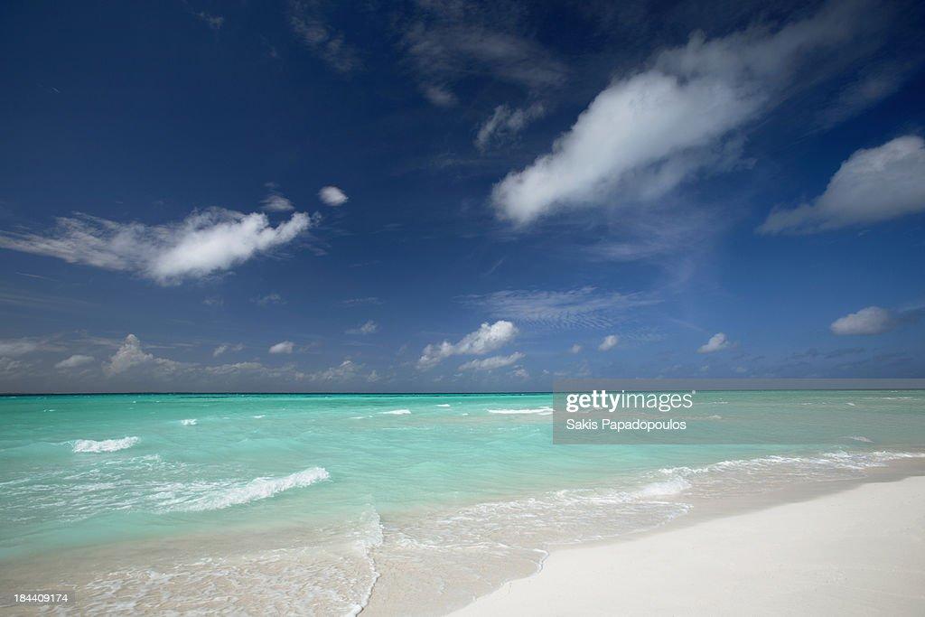 Tropical beach maldives : Stock Photo