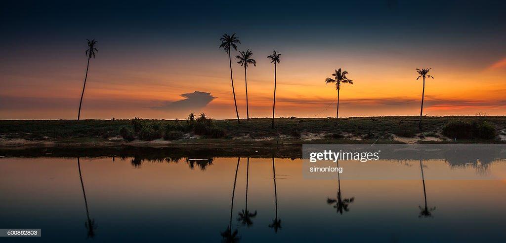 Tropical beach Sunrise at East coast Malaysia