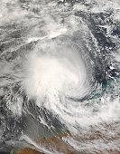 Tropical Cyclone Nicholas approaching Australia at 02:40 UTC on February 15, 2008.