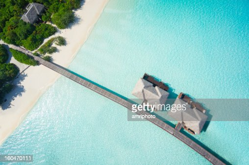 tropical hideaway from above