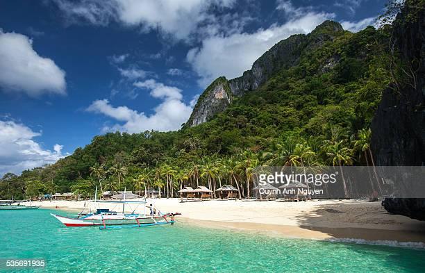 Tropical island beach, El Nido, Palawan