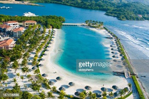 Tropical Lagoon overhead view
