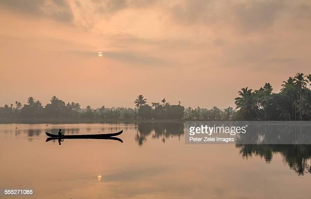 Tropical morning at the lake
