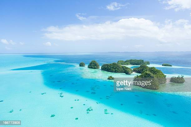 Tropical paradise islands and clear blue sea