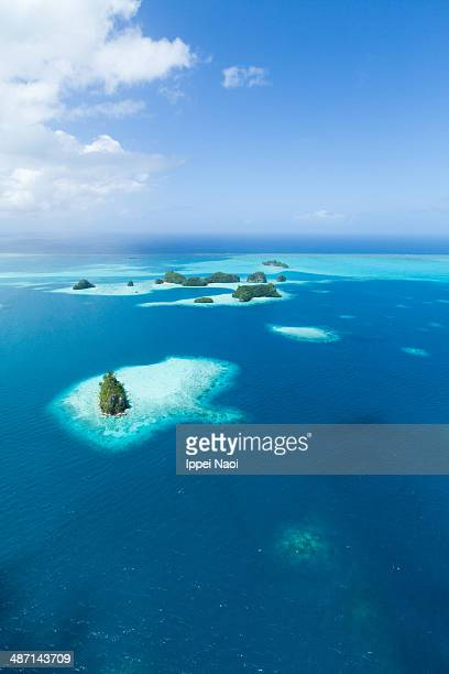 Tropical paradise islands from above, Palau