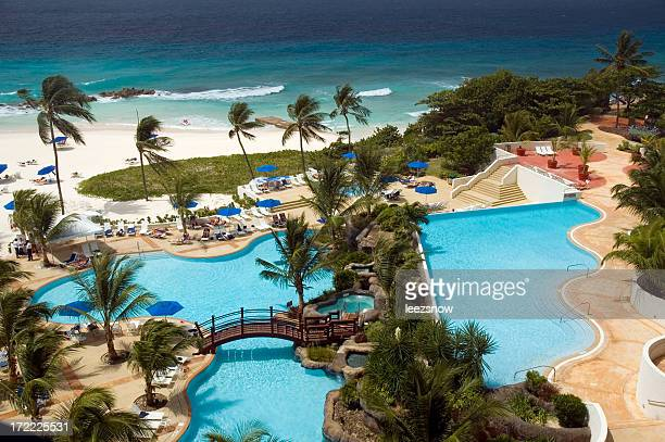 Tropical Resort Swimming Pools and Beach