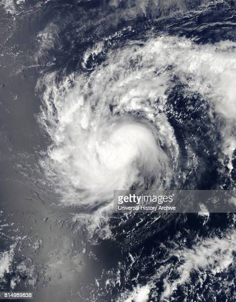 Tropical Storm Haishen on April 4 2015 and located northnortheast of Chuuk in the Pacific Ocean