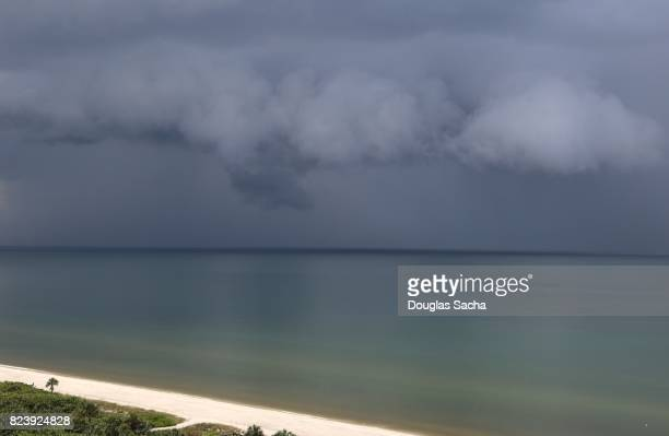 Tropical Storm over the water