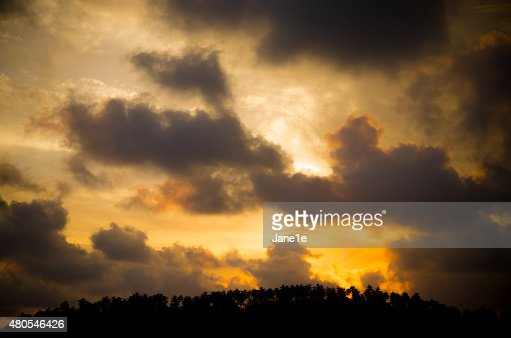 Tramonto tropicale : Foto stock