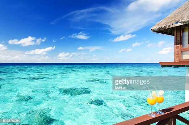 Concepto de vacaciones tropicales