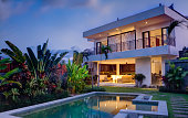 Tropical island villa with modern design