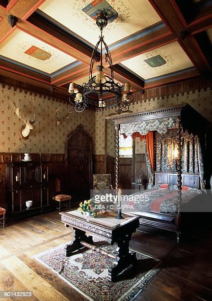 Troubadours' room Chateau de la Vigne Ally Auvergne France