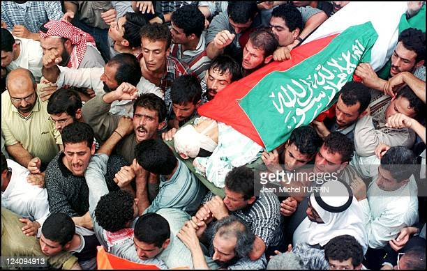 Troubles in Bethlehem Israel On October 17 2000 Funerals of young Palestinian killed during clash between Palestinians and Israeli army