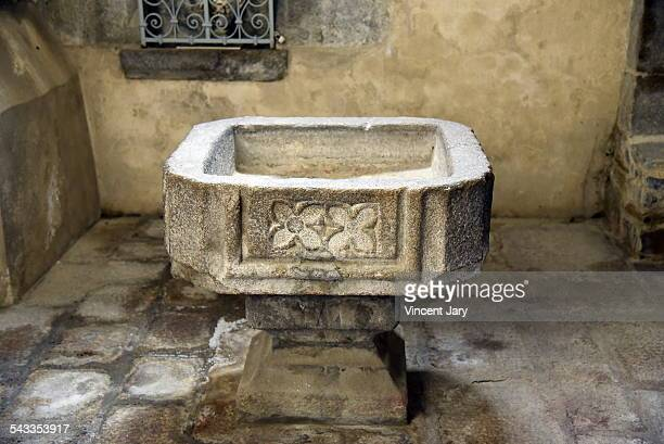 Trough for blessing in Dol de Bretagne cathedral