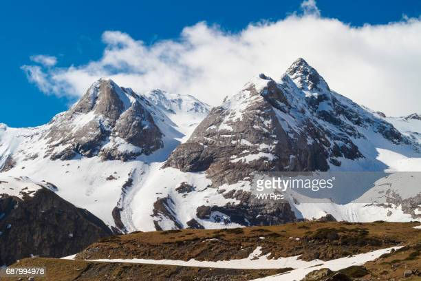 Troumouse glacier cirque HautesPyrenees department MidiPyrenees region France Europe