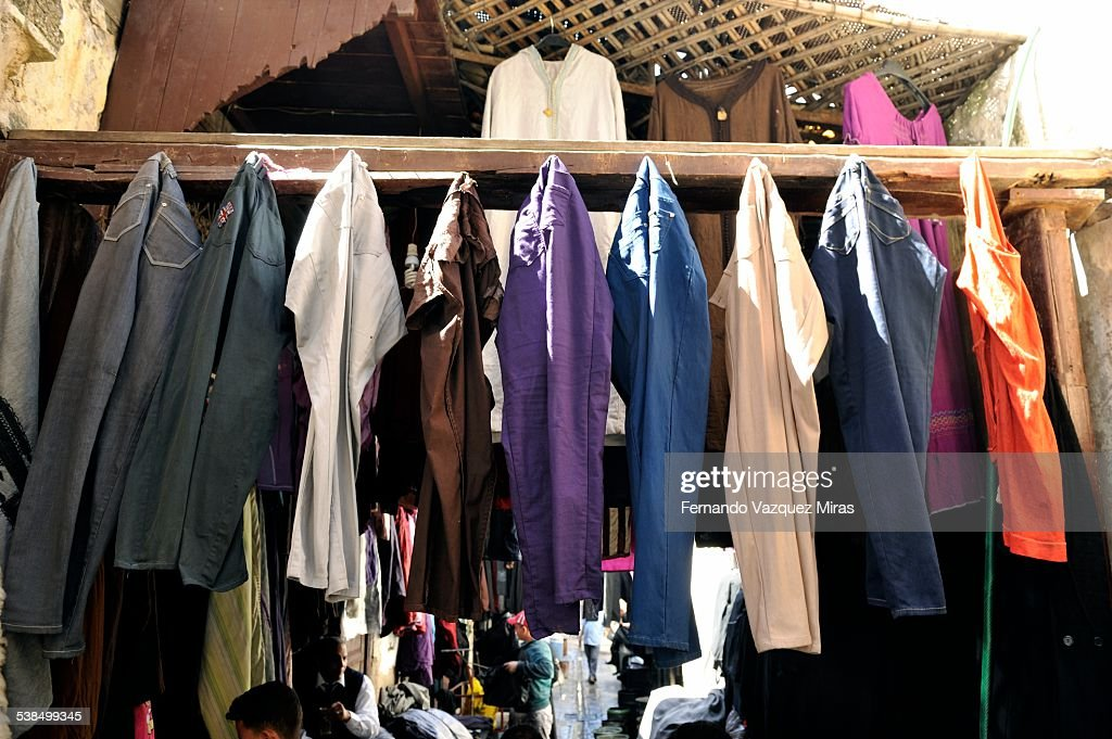 Trousers drying on a laundry in Fes el-Bali