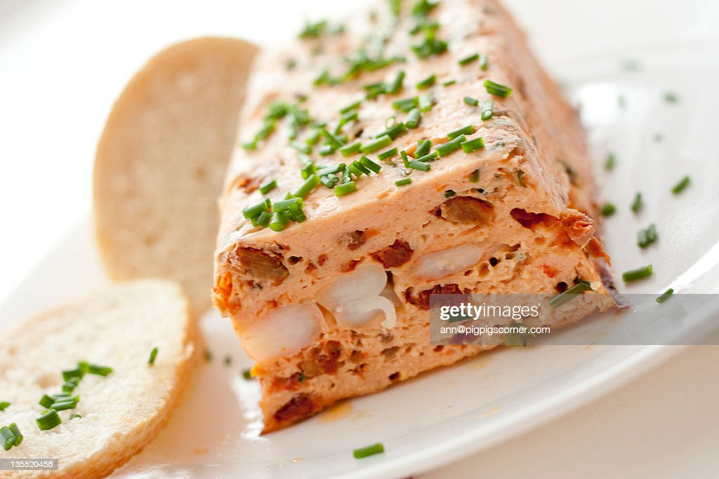 Trout and shrimp pate : Stock Photo