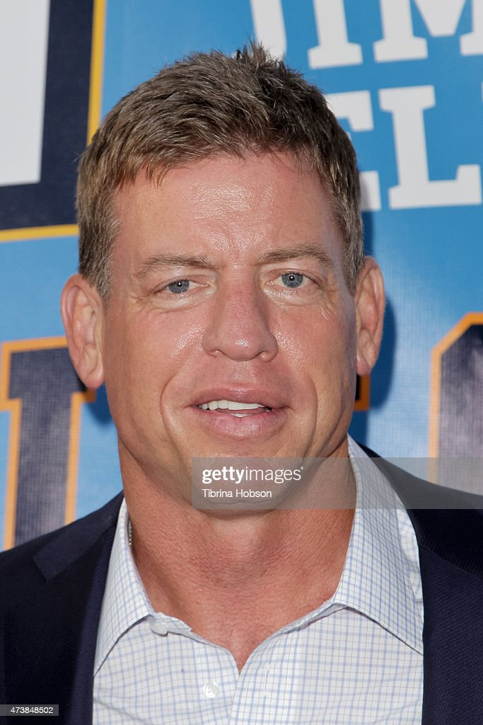 <a gi-track='captionPersonalityLinkClicked' href=/galleries/search?phrase=Troy+Aikman&family=editorial&specificpeople=206871 ng-click='$event.stopPropagation()'>Troy Aikman</a> attends the 9th annual Jim Mora celebrity golf classic VIP cocktail reception at W Los Angeles on May 17, 2015 in Los Angeles, California.
