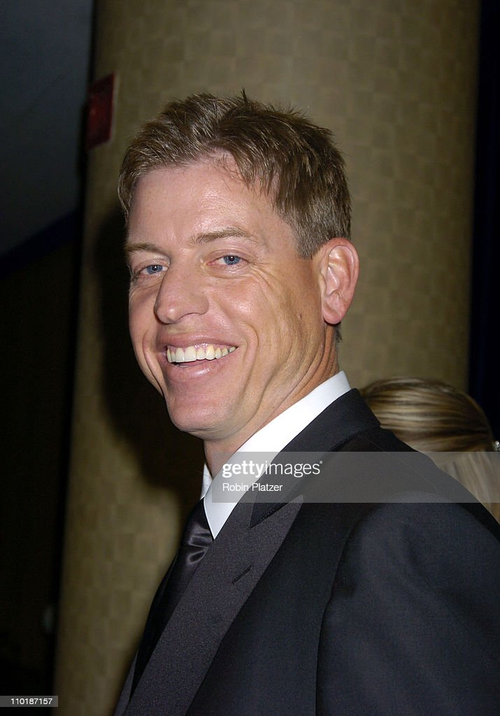 <a gi-track='captionPersonalityLinkClicked' href=/galleries/search?phrase=Troy+Aikman&family=editorial&specificpeople=206871 ng-click='$event.stopPropagation()'>Troy Aikman</a> of Fox Sports during The 25th Annual Sports Emmy Awards at Marriott Marquis Hotel in New York City, New York, United States.