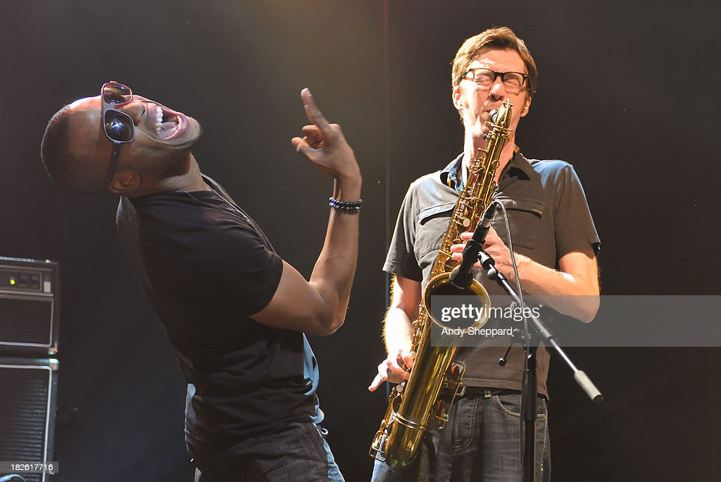 <a gi-track='captionPersonalityLinkClicked' href=/galleries/search?phrase=Troy+Andrews&family=editorial&specificpeople=2534943 ng-click='$event.stopPropagation()'>Troy Andrews</a> aka Trombone Shorty performs on stage at KOKO on October 1, 2013 in London, England.