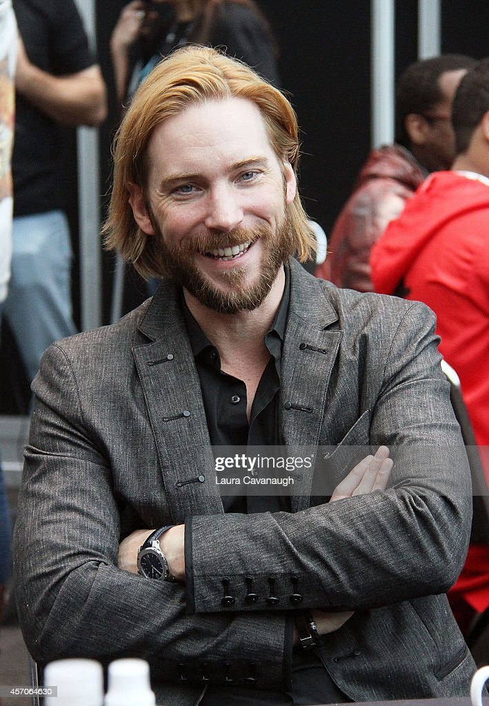 Troy Baker of 'Lego Batman 3: Beyond Gotham' in the Press Room at 2014 New York Comic Con - Day 3 at Jacob Javitz Center on October 11, 2014 in New York City.