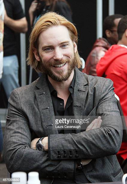 Troy Baker of 'Lego Batman 3 Beyond Gotham' in the Press Room at 2014 New York Comic Con Day 3 at Jacob Javitz Center on October 11 2014 in New York...