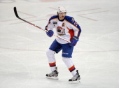 Troy Bodie of the Norfolk Admirals skates during an American Hockey League game against the Bridgeport Sound Tigers on December 2 2012 at the Webster...