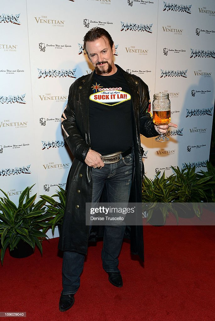 Troy Burgess arrives at the Rock Of Ages opening after party at The Venetian on January 5, 2013 in Las Vegas, Nevada.