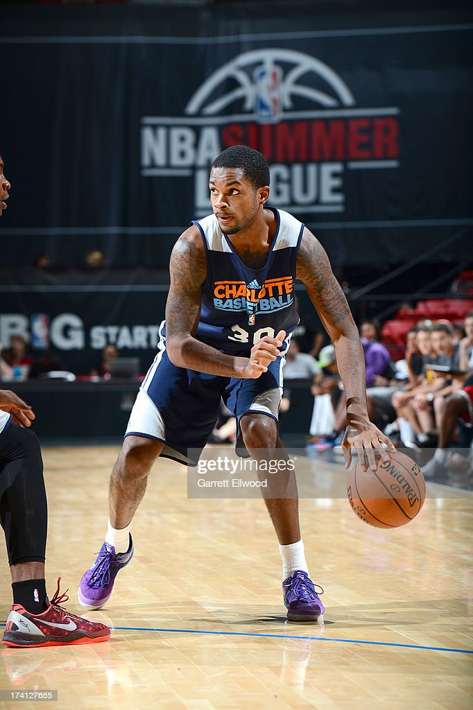 Troy Daniels #30 of the Charlotte Bobcats drives during NBA Summer League game between the Charlotte Bobcats and the D-League Select Team on July 20, 2013 at the Cox Pavilion in Las Vegas, Nevada.