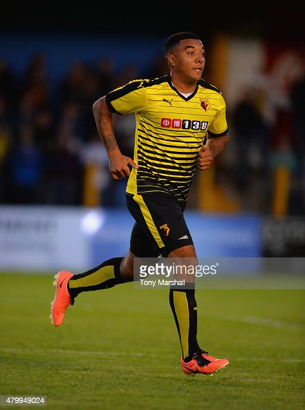 Troy Deeney of Watford during the Pre Season Friendly match between St Albans City and Watford at Clarence Park on July 8 2015 in St Albans England