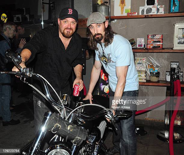Troy Duffy and Paul Alessi attend 'The Boondock Saints' Bike Benefit at Tuff Sissy Co on October 13 2011 in Los Angeles California
